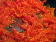 ντομάτες, πιπεριές σοτέ